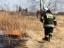 Pożar trawy przy ul. Berlinga