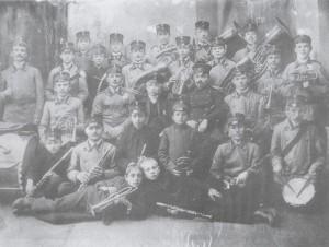 1918 rok - Orkiestra Ochotniczej Straży Pożarnej w Brzezinach